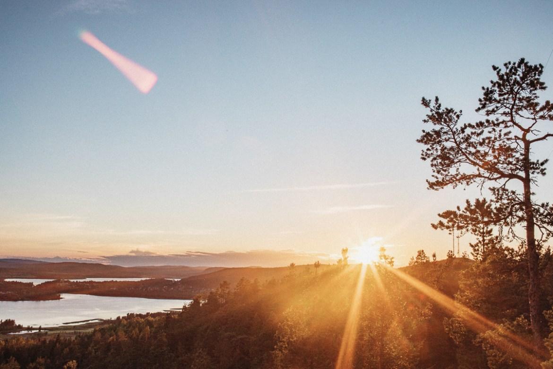 En sån där magisk solnedgång uppe vid Varvsberget i Örnsköldsvik.