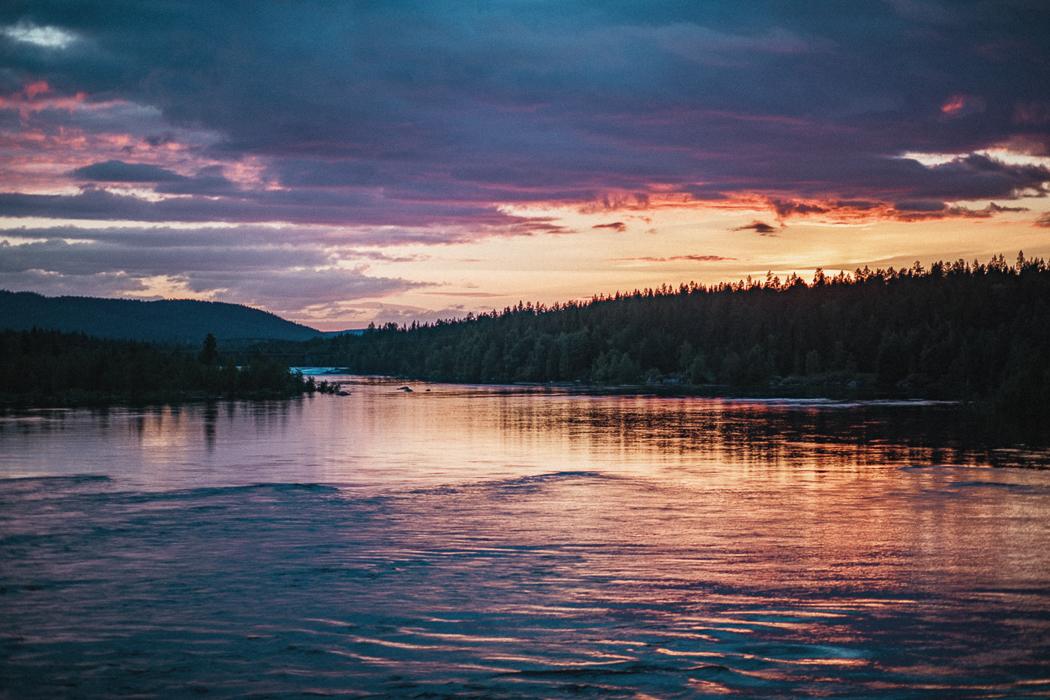 Solnedgång vid Umeälven