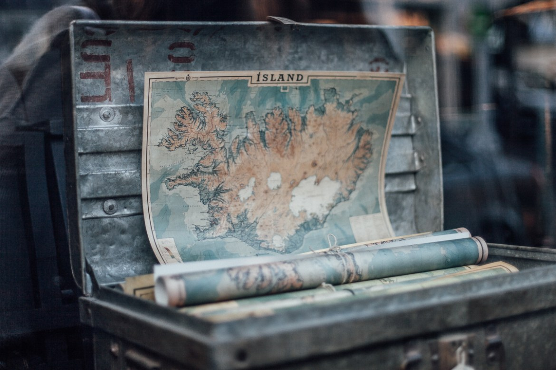Karta över Island