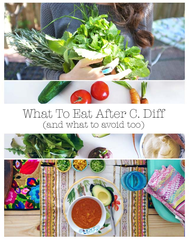 What food to eat and avoid after a c  diff infection low fat
