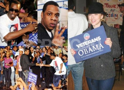 Scarlett Johansson Obama Supporter