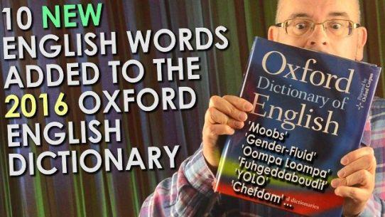 Palavras adicionadas ao dicionário inglês