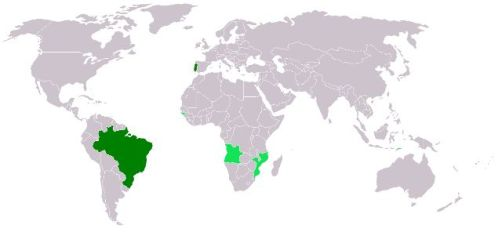 Mapa do Mundo da Língua Portuguesa