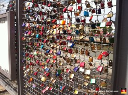 Love locks in Husum. Aren't they cute? (Statistically, half of those relationships are now over.)