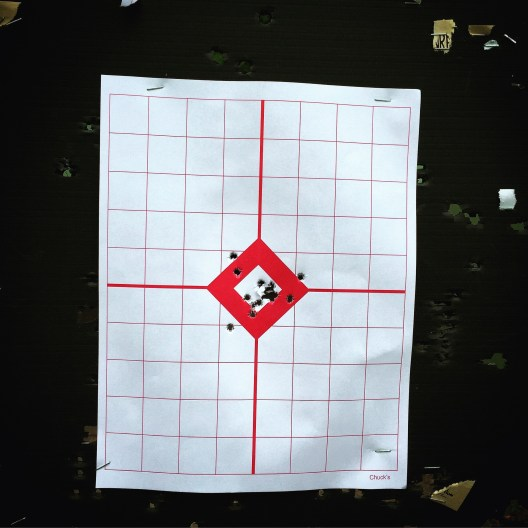 That's my German wife's target. Awesome grouping. She's a natural.