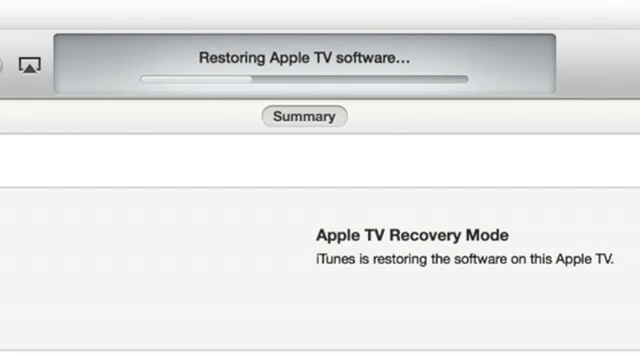 Restoring Apple TV via iTunes