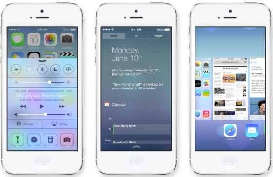 iOS 7's Control Center, Notification Center, and Multitasking