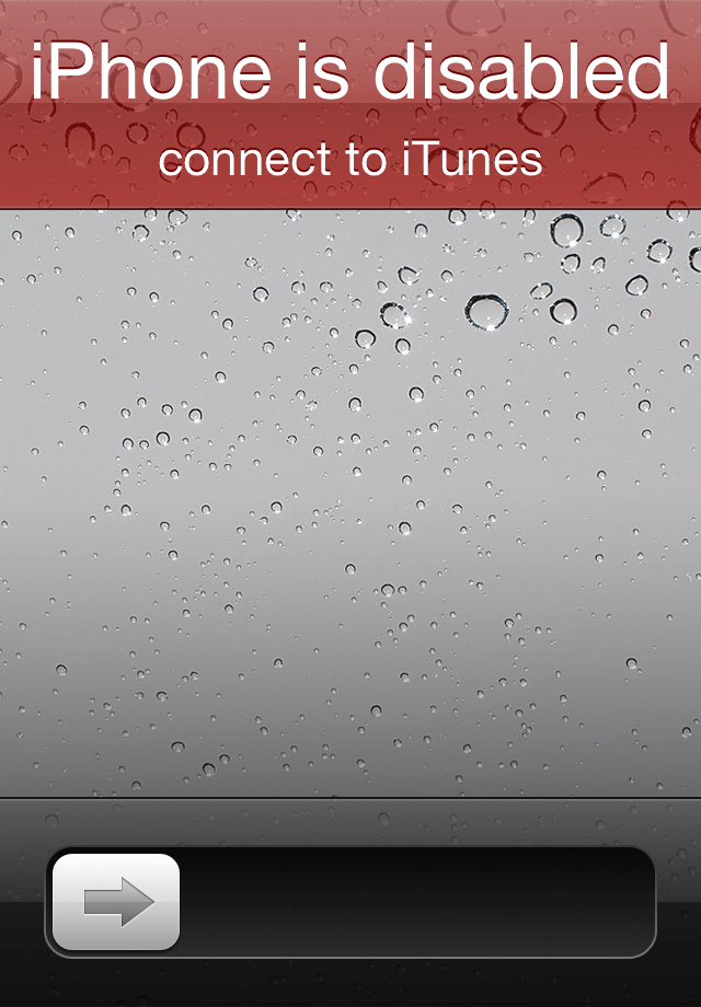 iphone is disabled connect to itunes pay was