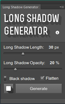 Long Shadow Generator Plugin for Photoshop