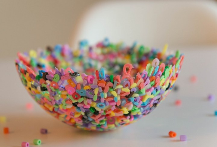 Bowl of melted beads