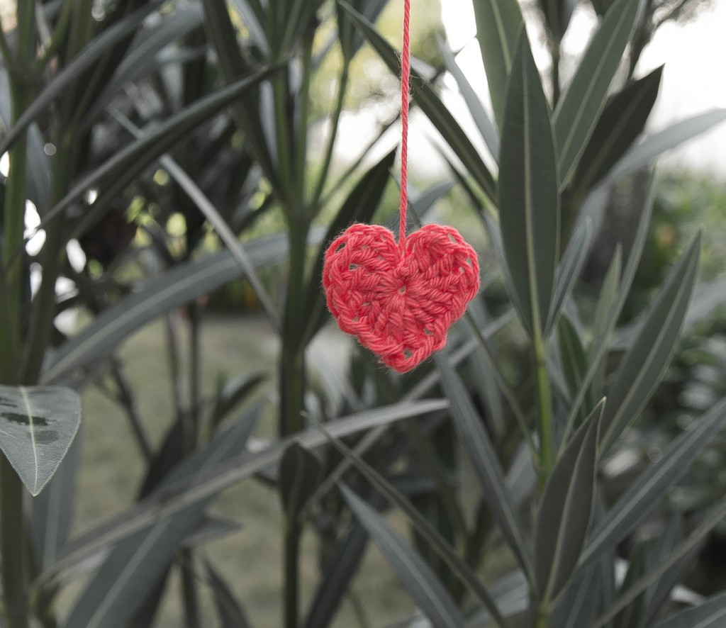 DIY Crochet heart - pure magic