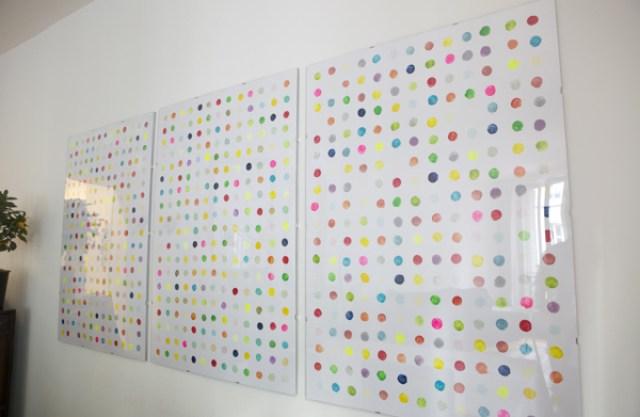 colorful-dots-wall-art