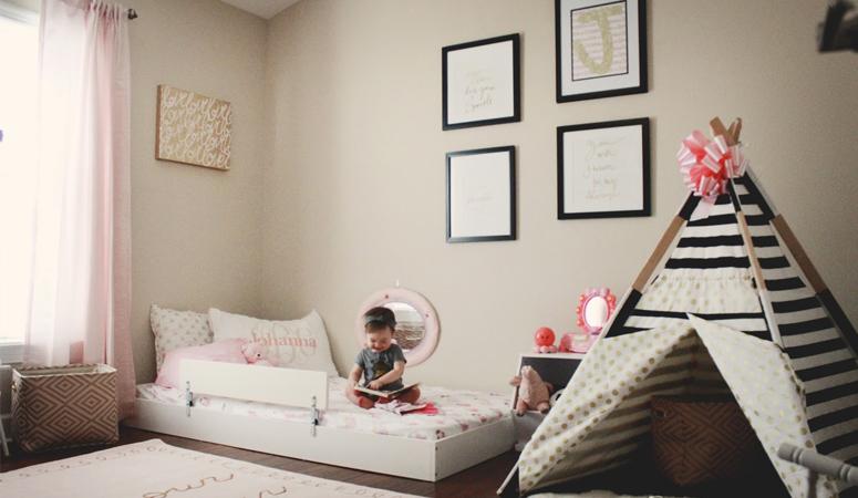 johanna's montessori style [big girl] bedroom - oh happy play