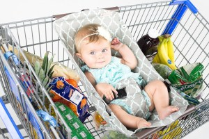 baby accessory, baby shower gift, shopping cart hammock