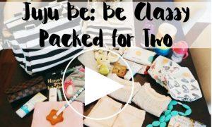 juju be be classy, be classy, juju be, ju ju be, diaper bag, cute diaper bag, packing for 2, packing for kids, whats in my diaper bag, modern diaper bag, designer diaper bag