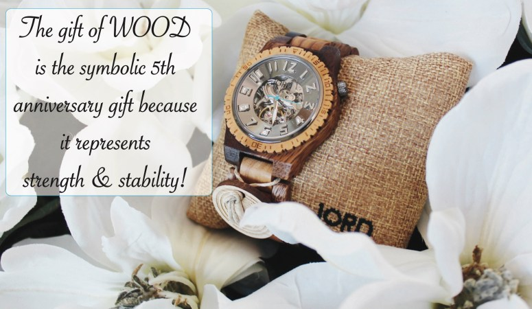 Celebrating 5 Years Of Marriage With The Gift of Tradition: WOOD