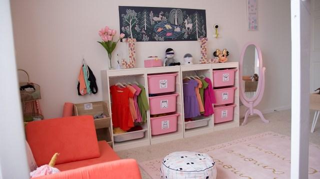 Shared Room | DIY Wardrobe Station