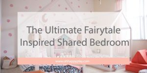 fairytale room, girls room, shared room, shared kids room, shared kids, twin girls, girls room, dream room, little girl's room, princess room, whimsical room, beddy's beds, modern girls room, monochrome girls room, nugget comfort , oh happy play