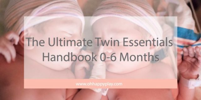 The Ultimate Twin Essentials Handbook for  0-6 Months from Florida Motherhood blogger, Oh Happy Play! Check it out and see everything you need!