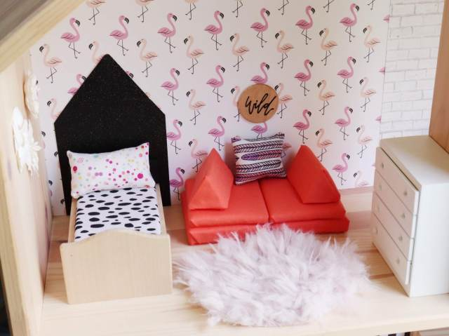 Custom Dollhouse Bedroom