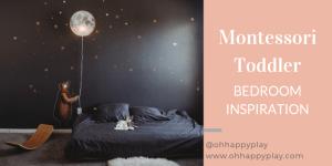 Montessori floor bed toddler room