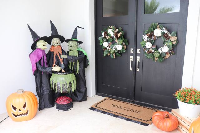 3 witch halloween decor, Halloween ideas, Halloween Style Challenge, Patio makeovers, patio ideas, Holiday Decor