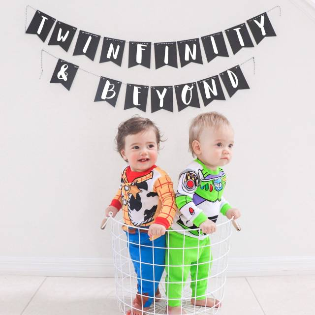 twinfinity and beyond, best twin boy halloween costume idea, twin boy Disney halloween costume