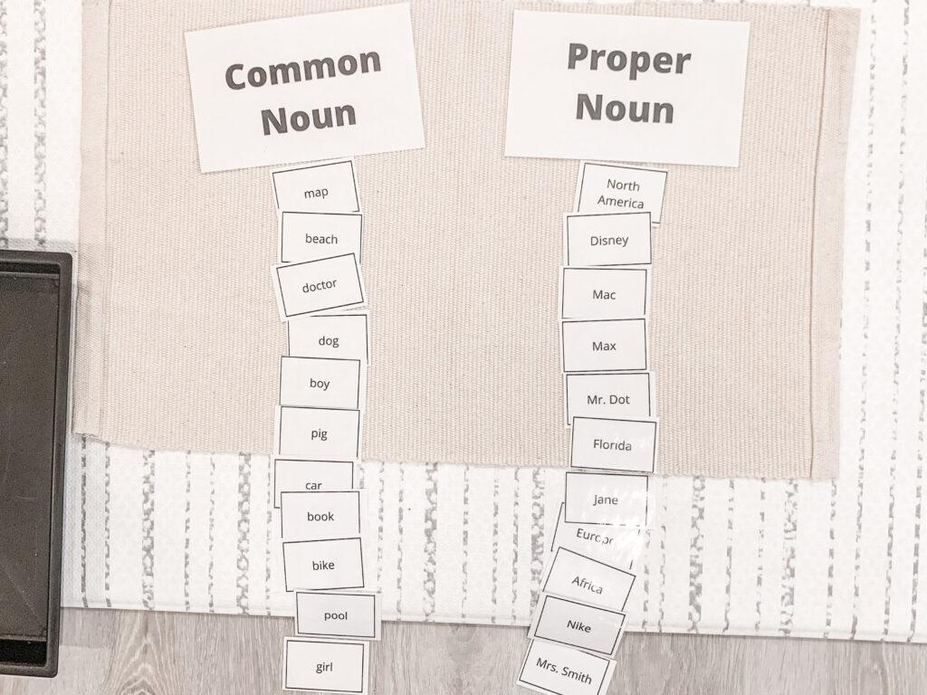 Free Printable Worksheet Activity For Common Vs Proper Noun