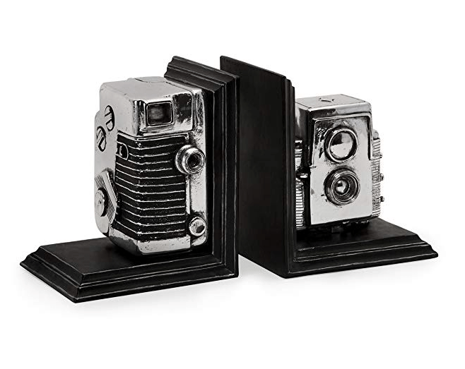 Camera Bookends - Holiday Gift Ideas for Photographers