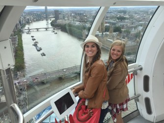 View from inside the London Eye