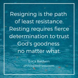 resting not resigning
