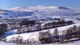 Snow covered Ingleborough - picture by Brian Dugdale