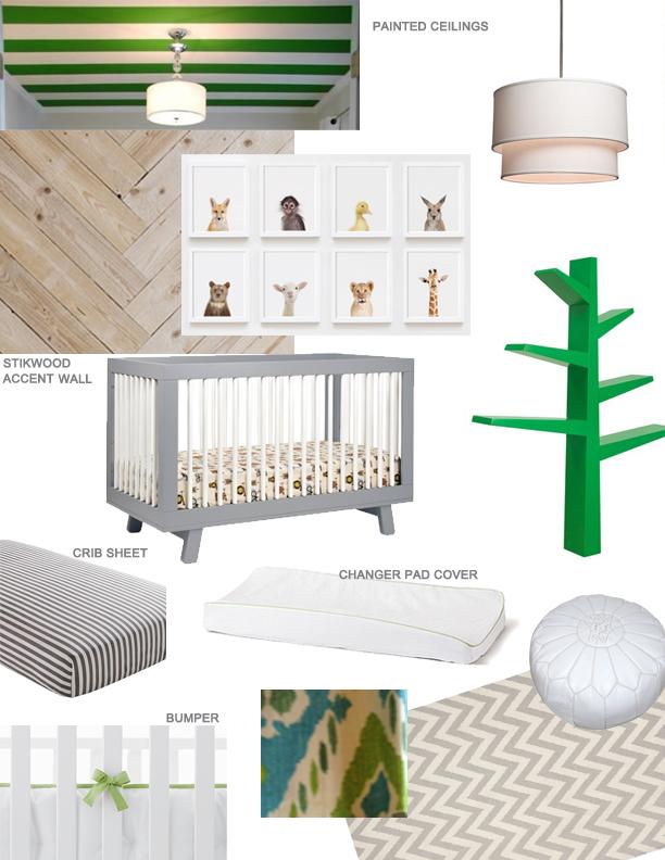 Nursery mood board / With Love, Design LLC.