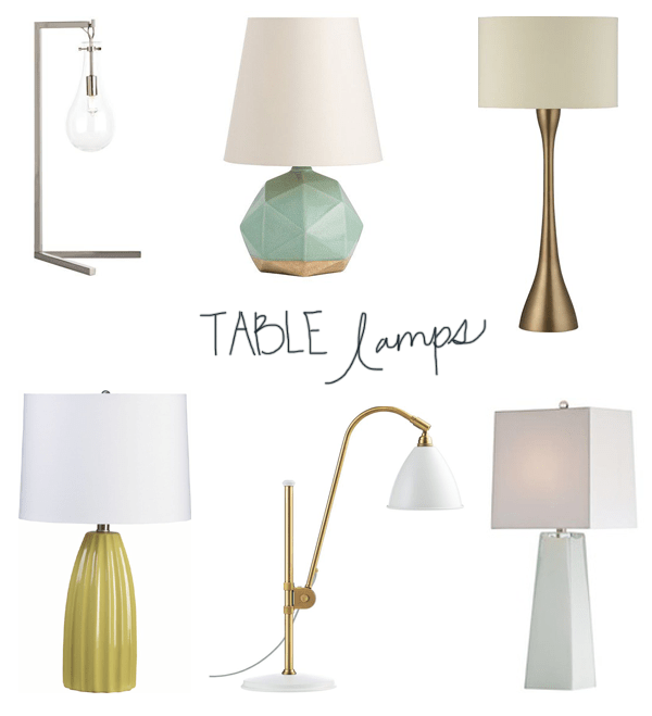 Table Lamp Faves via OhIDesignBlog