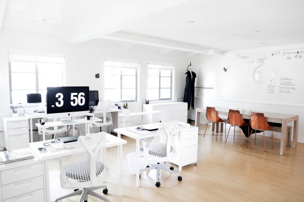 Lunya's Office Space via Oh, I Design Blog