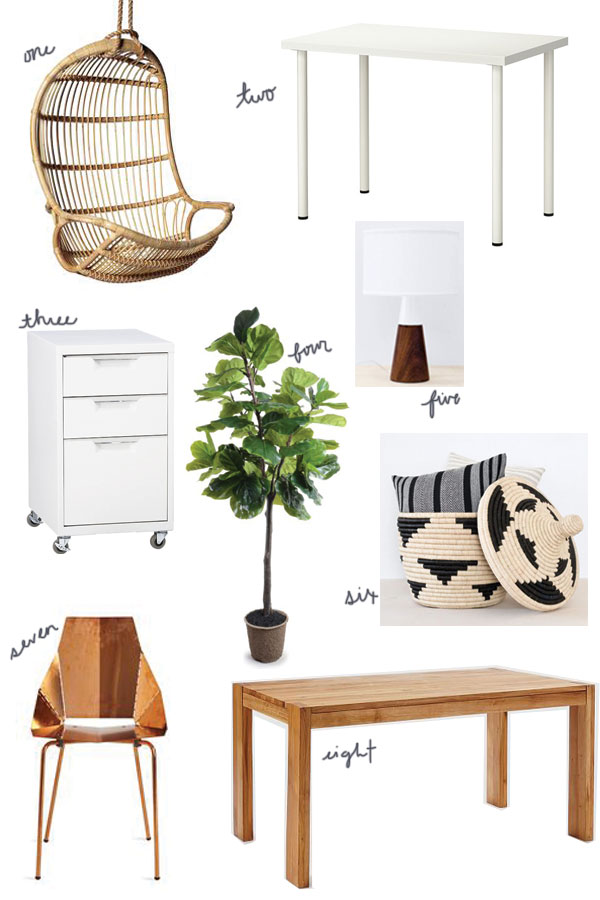 Lunya's Office - Get the Look via Oh, I Design Blog
