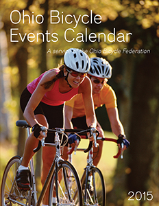 Image: Cover of the 2015 Ohio Bicycle Events Calendar.
