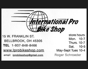 Image: Ad for International Pro Bike Shop