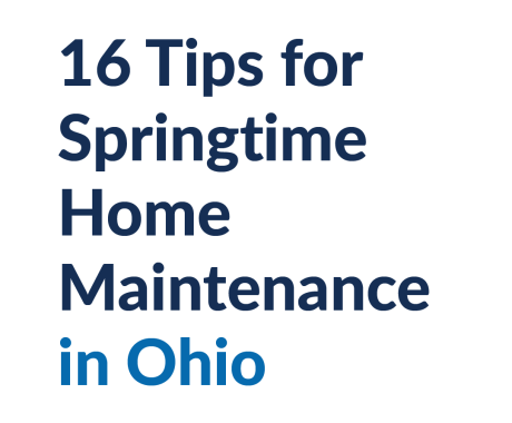 16 Tips for Springtime Home Maintenance in Ohio