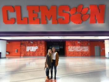 Riley Carpenter travels to Clemson University with the Go Gold Fund