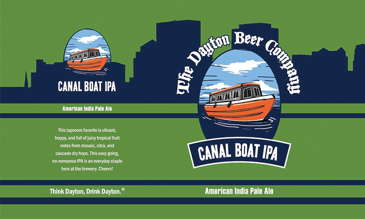 The Dayton Beer Company Canal Boat IPA American India Pale Ale. Think Dayton, Drink Dayton.