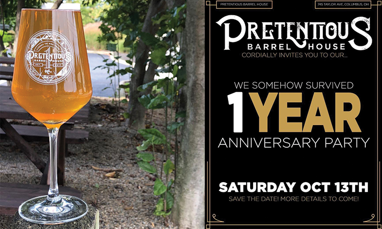 Pretentious Barrel House cordially invites you to our... We Somehow Survived 1 Year Anniversary Party. Saturday, October 13th. Save the date. More details to come. 745 Taylor Ave., Columbus OH