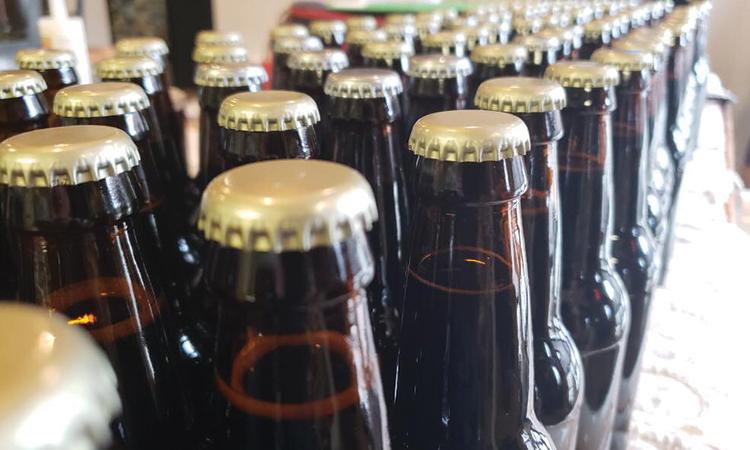 Bomber bottles at Brink Brewing