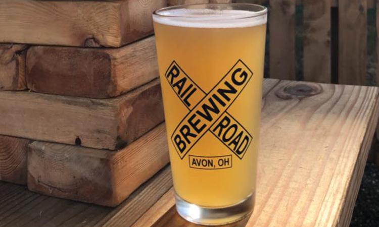 Railroad Brewing Company pint glass