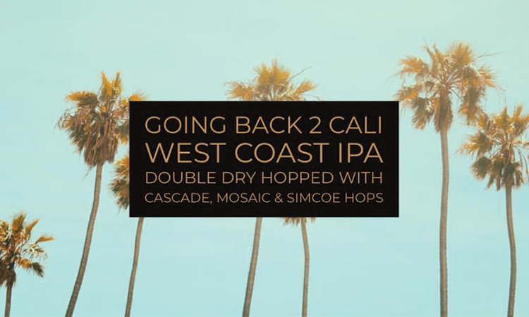 Flatrock Brewery - Going Back 2 Cali West Coast IPA, double dry-hopped with Cascade, Mosaic and Simcoe hops