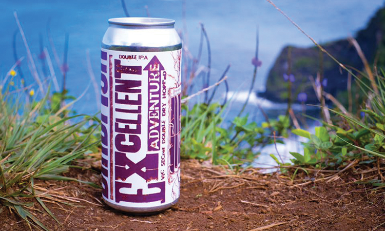 BIrdfish Brewing Excellent Adventure double IPA can