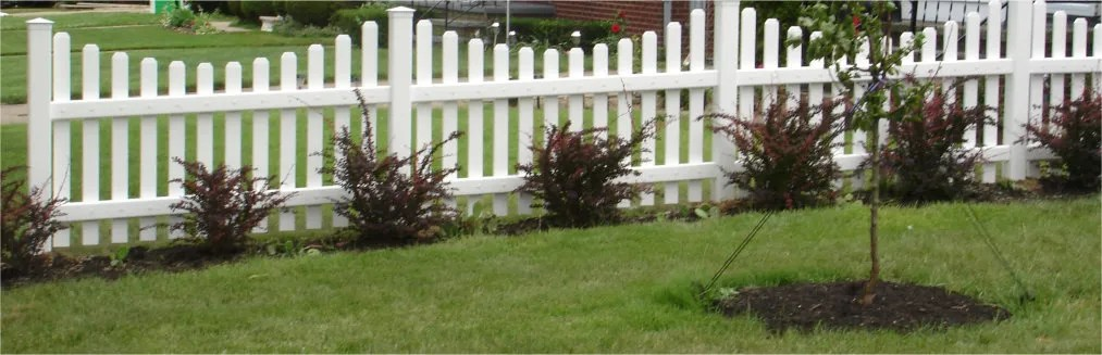 Vinyl picket fencing