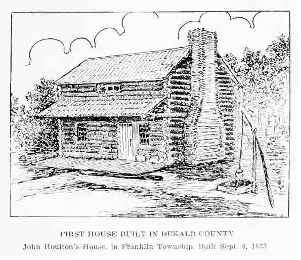 John Houlton's house in Franklin Township built in 1833.