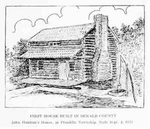 John Houlton's house in Franklin Township built in 1833.