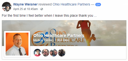 Ohio Healthcare Partners review 5 star